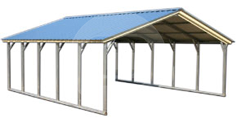 Vertical Roof Metal Garage Buildings