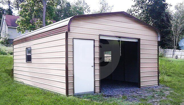 Regular Roof Garage Building Mississippi