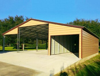 Metal Carports Custom Garage Buildings Rv Carport