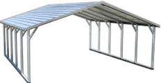 A-Frame Boxed Eave Metal Garage Buildings