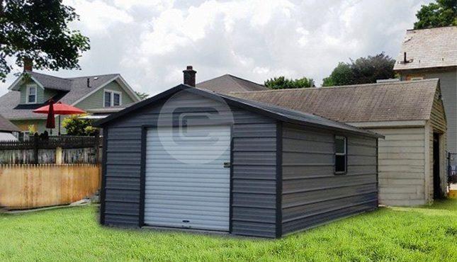 12x21x6 A-Frame Garage