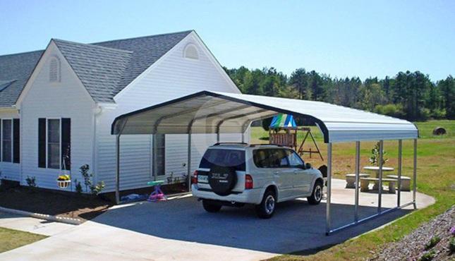 10 18 Metal Carport : Regular roof carports style metal for sale