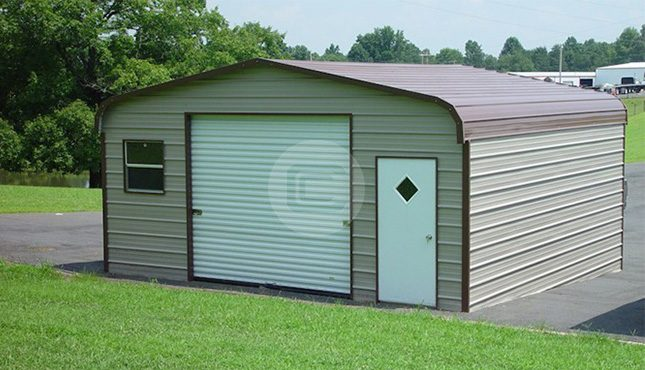 18x21x8 regular style enclosed garage frame for sale 18x21x8 enclosed garage solutioingenieria Image collections
