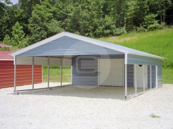 18x26 utility carport with vertical roof. Black Bedroom Furniture Sets. Home Design Ideas