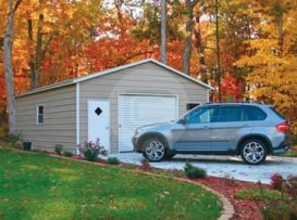 20x26x9 Boxed Eave Garage