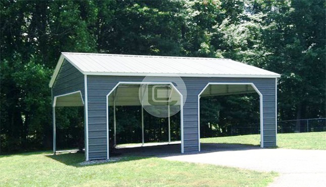 20x26x9 Vertical Style Side Entry Carport