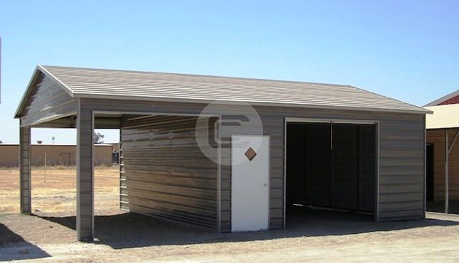 20x31x9 a frame boxed eave style side entry garage for sale for Side entry garage