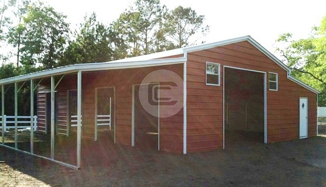 36x21 a frame carolina barn boxed eave metal barn structure With buy a horse barn