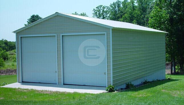 Detached Carports Metal : Detached metal garage car price