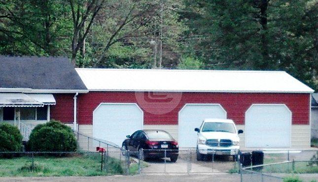 24x36x10 Side Entry Garage-1