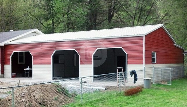 24x36x10 vertical roof side entry garage with workshop for Side entry garage