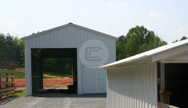 14 24 Metal Carport : Vertical roof standard enclosed steel garage