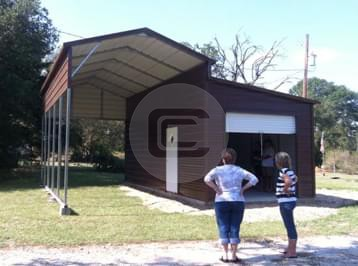 12x26x12 A-Frame RV Cover - Prefab Boxed Eave Carport