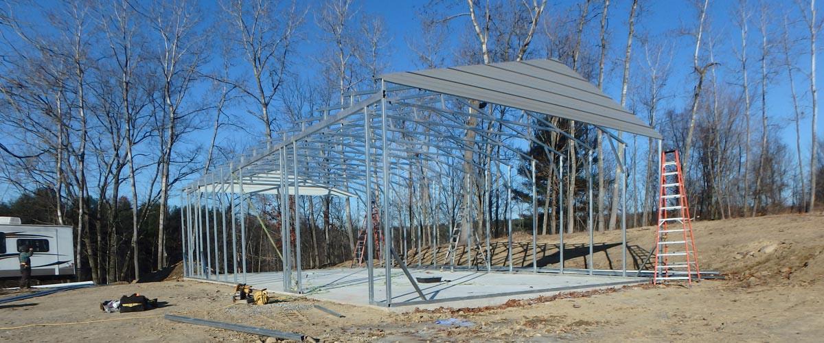 Carport Installation Information Metal Barns Enclosed