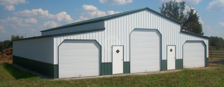Metal carports custom garage buildings rv carport for Rv barns