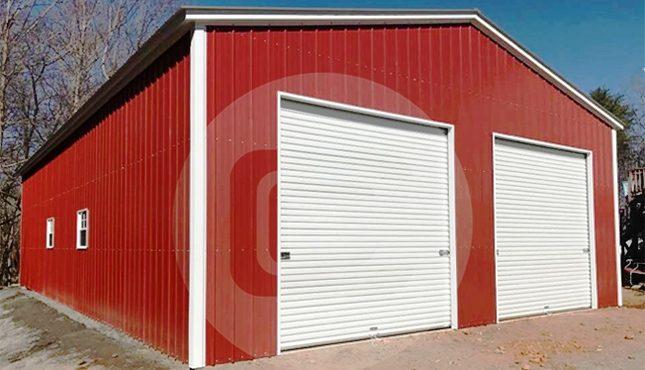 30x41x12 vertical roof certified triple wide garage kits. Black Bedroom Furniture Sets. Home Design Ideas