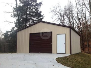 A frame roof style garages boxed eave metal garages for sale for Steel frame barns for sale