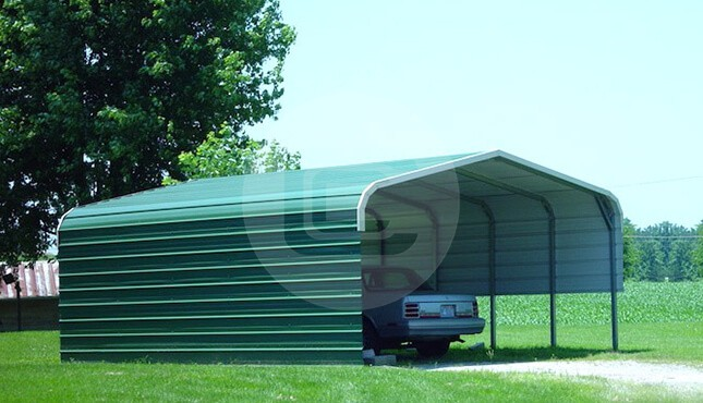 Regular Roof Carports - Regular Style Metal Carports for Sale