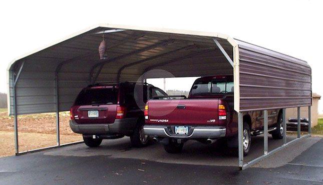 20x21x7 Regular Roof Standard Carport