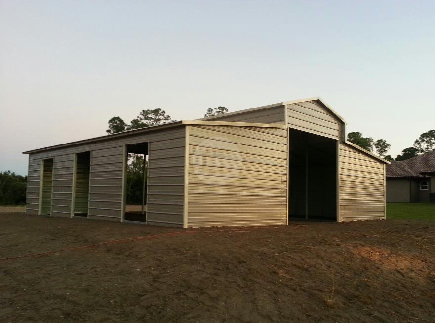36x36 a frame carolina horse barns for sale for Steel frame barns for sale