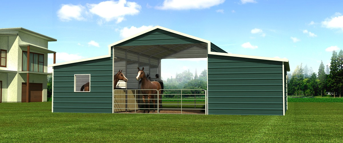 Horse Barns Do It Yourself : Metal barns vs wooden which is the best option for