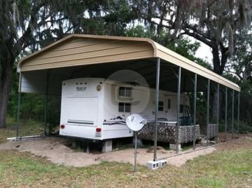 Regular Roof Style Rv Covers Metal Rv Shelters For Sale