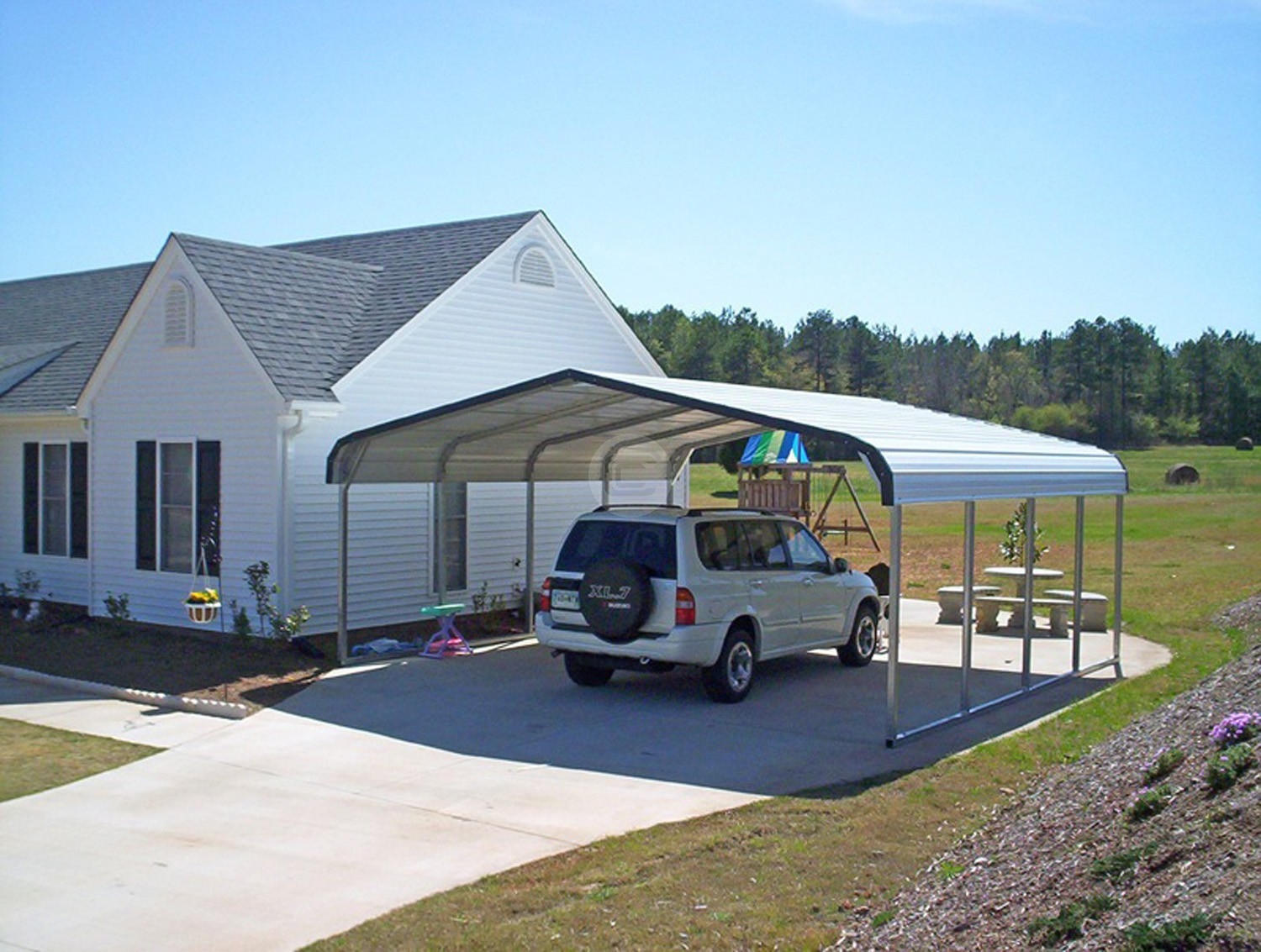 Carolina Carports Homepage : Get most value from a well constructed metal carport
