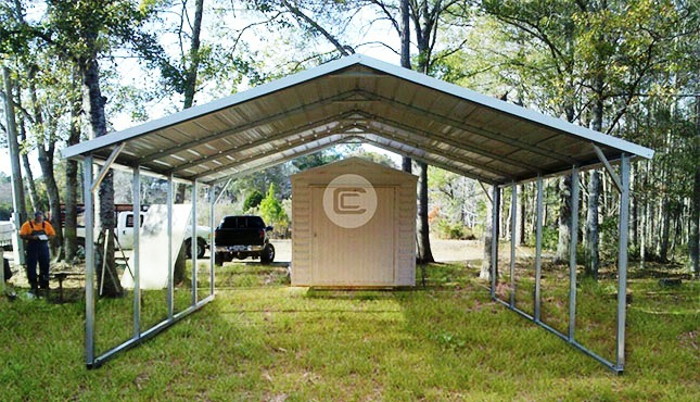 Lean To Carports Style : A frame roof style carports boxed eave for sale