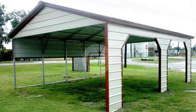 20x21 custom carport with vertical roof style. Black Bedroom Furniture Sets. Home Design Ideas