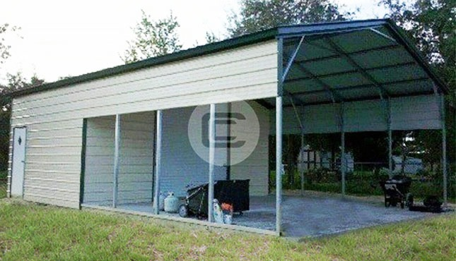 Metal rv carports rv cover kits custom rv shelters for for Motorhome storage sheds