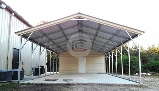Utility carports metal carports with storage combo for Carport shed combo