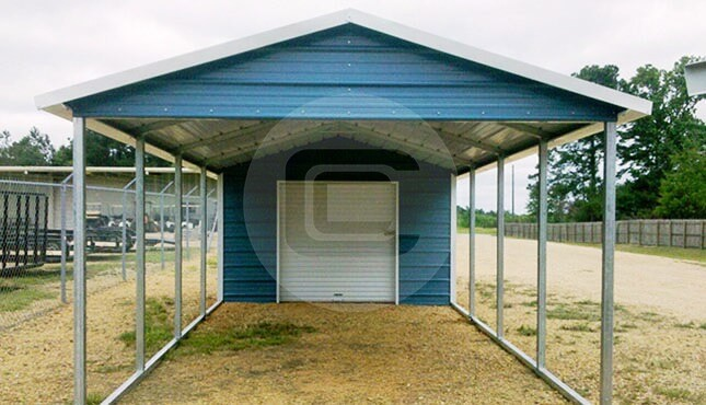 Carports For Cars 8 : Utility carport a frame roof style building