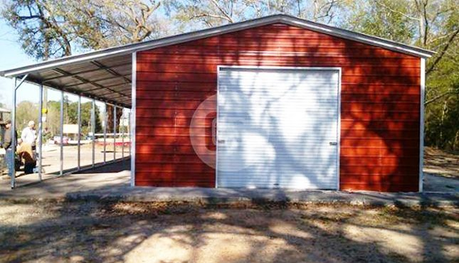 Enclosed Metal Garage