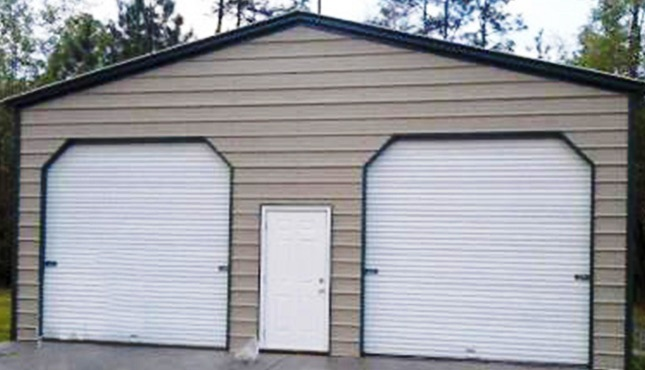 22x21x9 a frame garage two car prefabricated steel garage for Garage central auto lyon