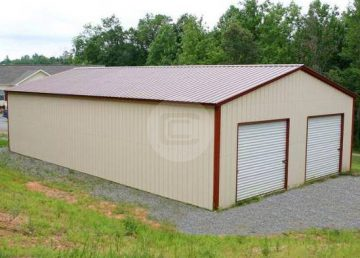 24x51x11 Steel Workshop Building