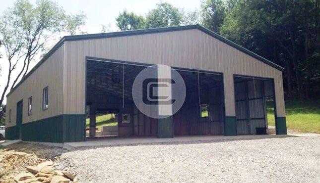 40x31 Custom Garage Three Garage Door Workshop Building