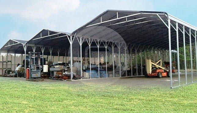 Custom Steel Carports : Custom built rv carport regular roof steel