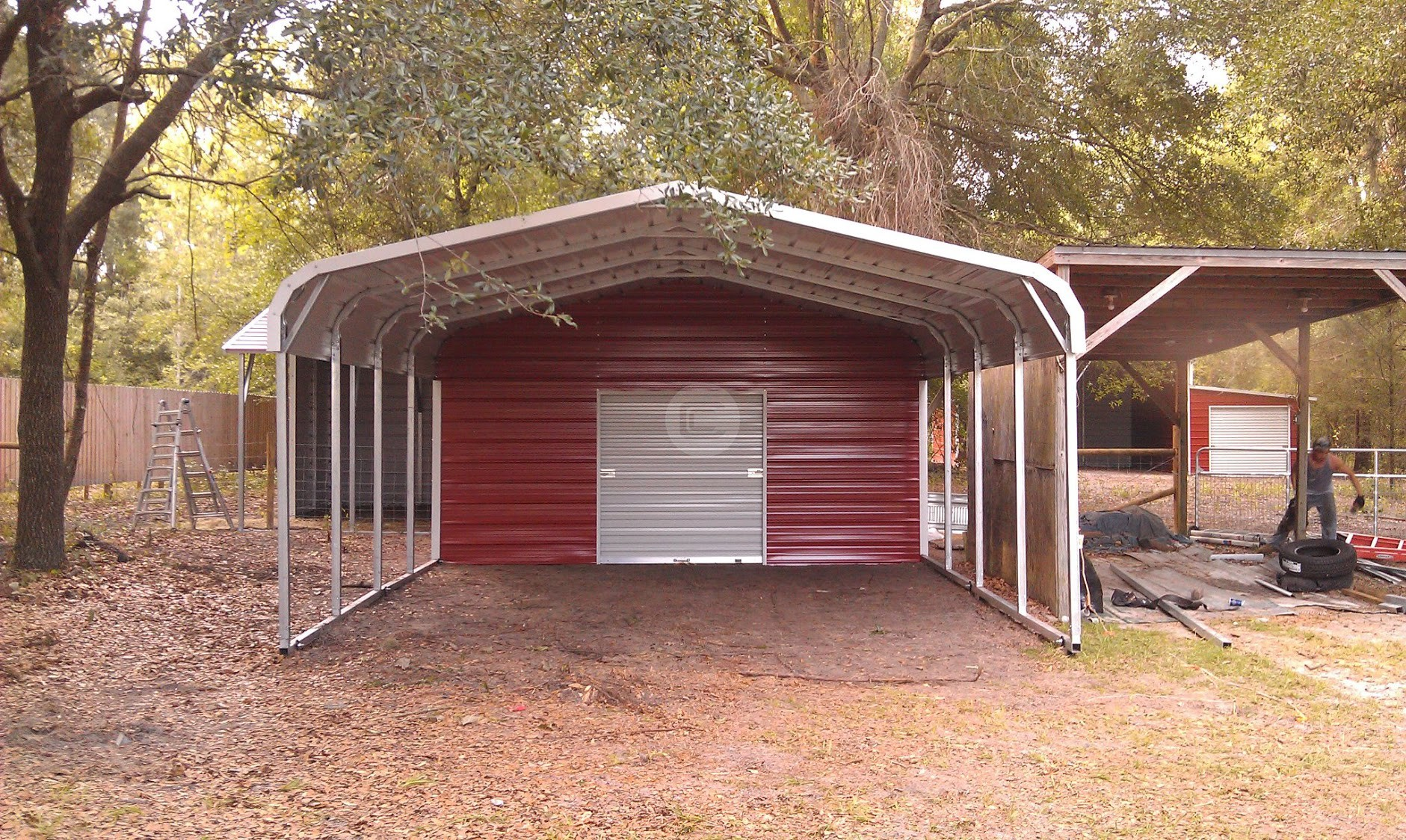 Best metal carports for areas with mild or moderate climates for Carport one