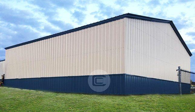 40 Wide Metal Garage1
