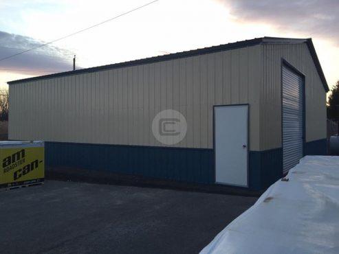 40 Wide Metal Garage2
