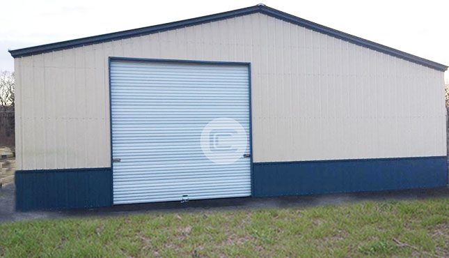 40 Wide Metal Garage3