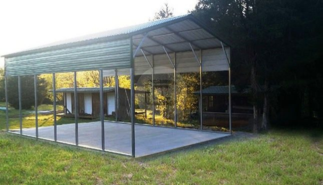 Custom Carports Product : Custom carport with side panels