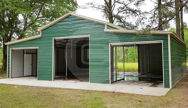 42x36 Carolina Barn Vertical Roof Metal Barn For Sale