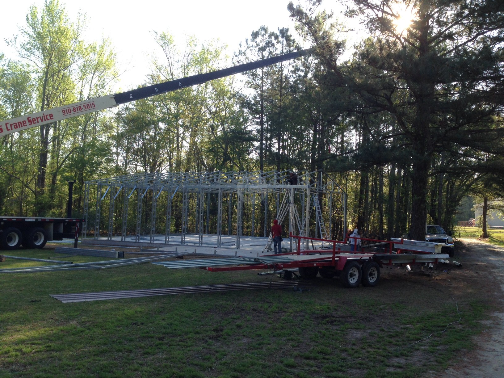 When Do I Need a Crane or Lift for My Custom Metal Building Installation?