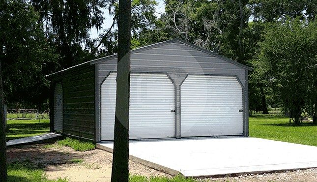 Two Car Metal Garage-2