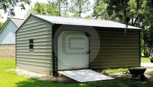 Two Car Metal Garage-3