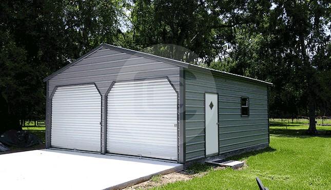 22×26 Vertical Roof Garage