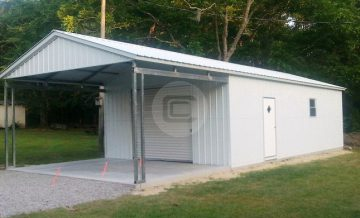 Utility carports metal carports with storage combo for Carport shop combo