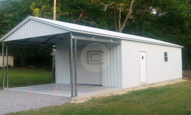 Utility Metal Building- Carport with Storage Shed- Combo ...