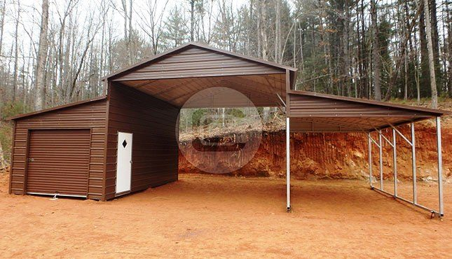 Metal Carolina Barn Shed Steel Farm Shelter For Sale